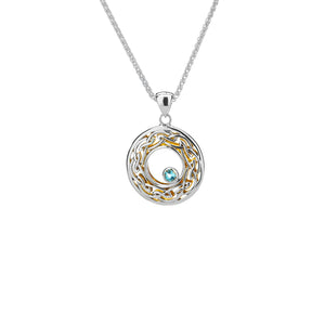 Pendant 22k Gilded Window to the Soul Sky Blue Topaz (3mm) Round Pendant from welch and company jewelers near syracuse ny