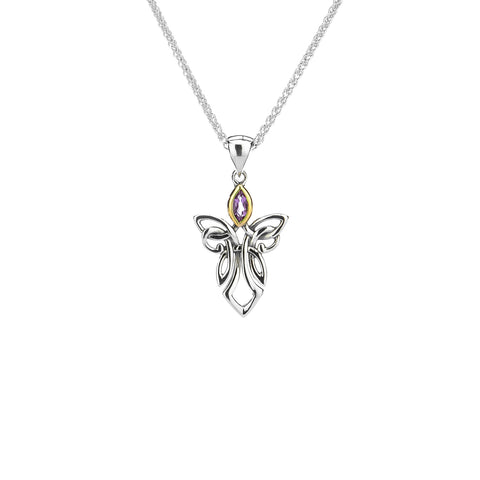 Pendant 10k Amethyst Guardian Angel Small Pendant from welch and company jewelers near syracuse ny