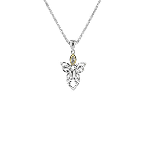 Pendant 10k CZ Small Guardian Angel Pendant from welch and company jewelers near syracuse ny