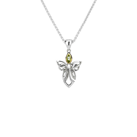 Pendant 10k Peridot Guardian Angel Small Pendant from welch and company jewelers near syracuse ny