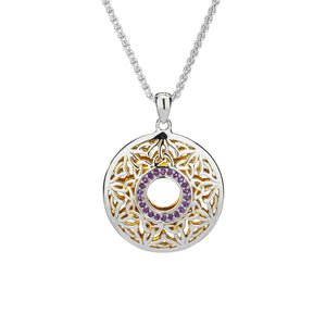 Pendant 22k Gilded Window to the Soul Amethyst Round Pendant from welch and company jewelers near syracuse ny