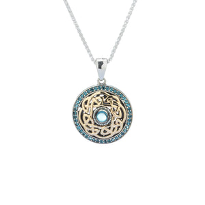 Pendant 10k London Blue Topaz Eternity Knot Pendant from welch and company jewelers near syracuse ny