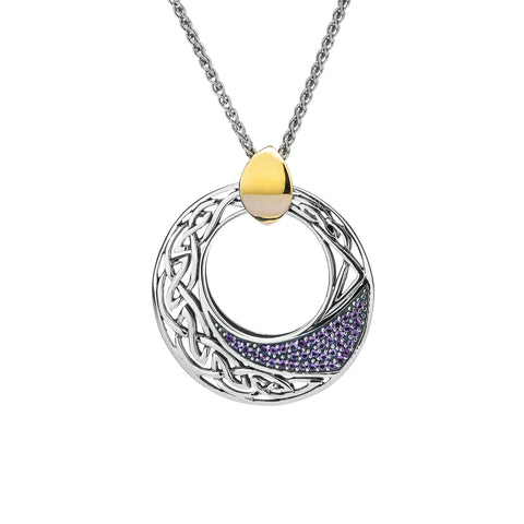 Pendant 10k Comet Amethyst Pendant with Gold Bail from welch and company jewelers near syracuse ny