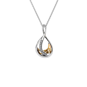 Pendant 10k White Sapphire Trinity Teardrop Pendant from welch and company jewelers near syracuse ny