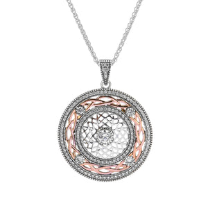 Pendant Oxidized 10k Rose CZ Brave Heart Pendant from welch and company jewelers near syracuse ny