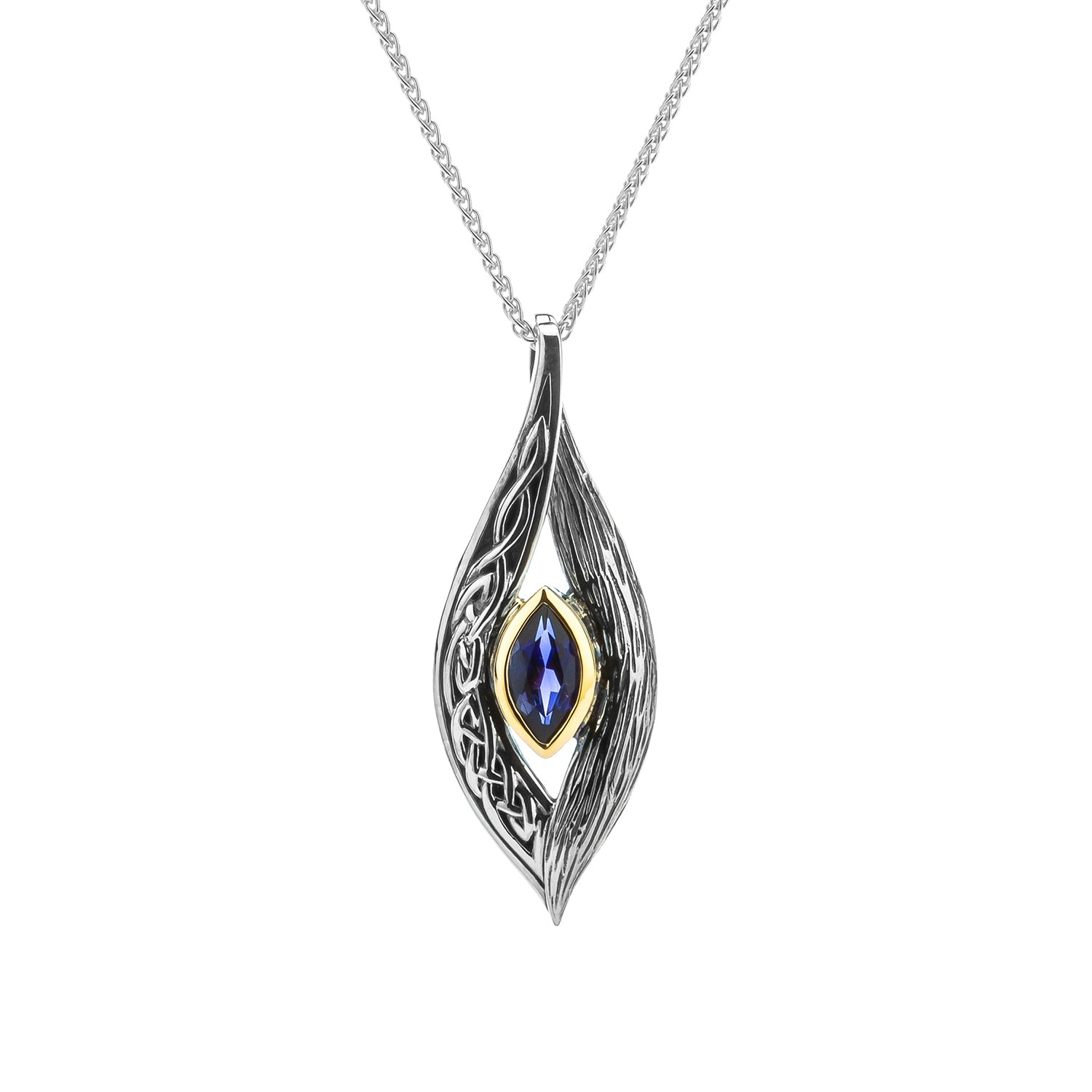 Pendant 10k Iolite Eternity Knot Elven Pendant from welch and company jewelers near syracuse ny