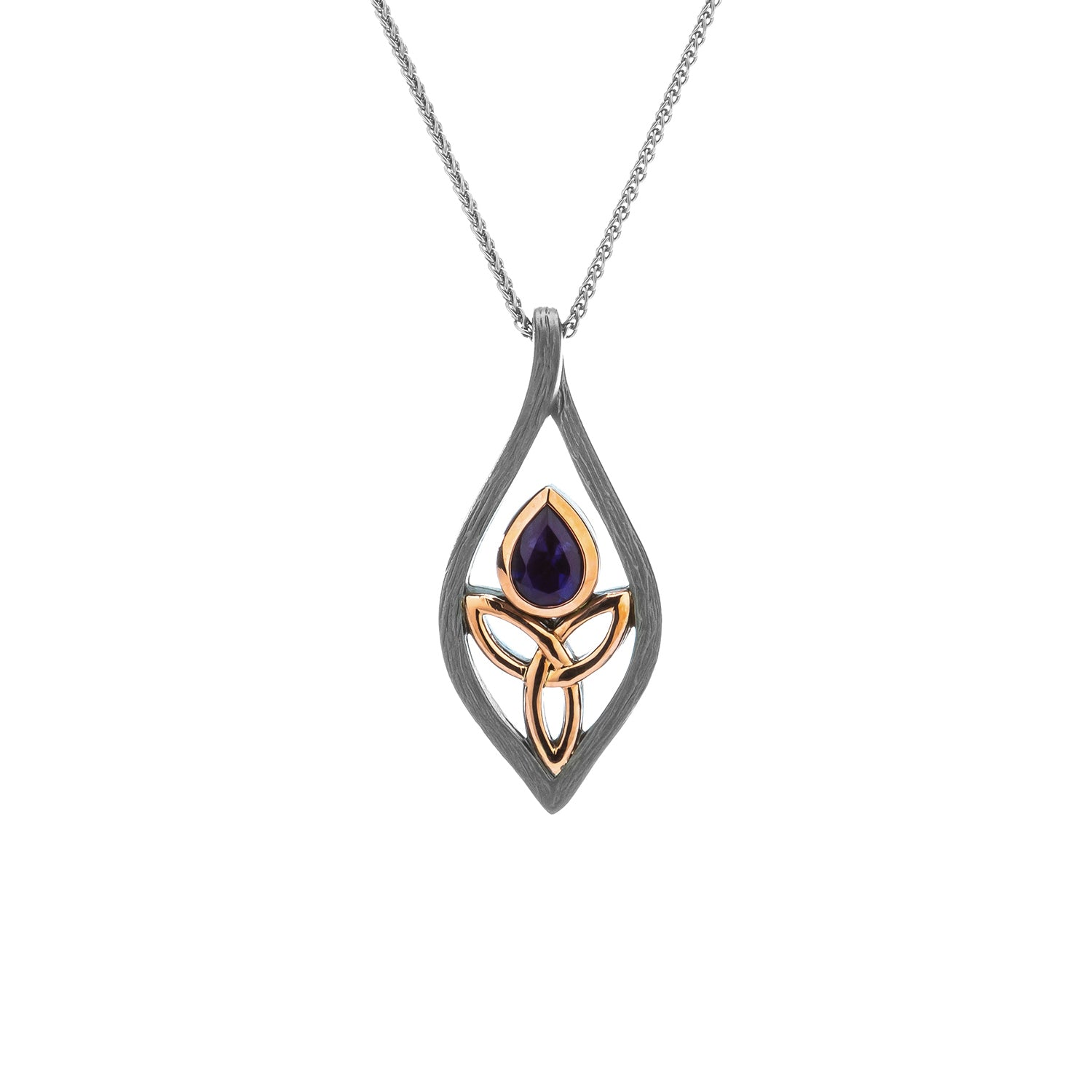 Pendant Ruthenium 10k Rose Iolite Archangel Pendant from welch and company jewelers near syracuse ny