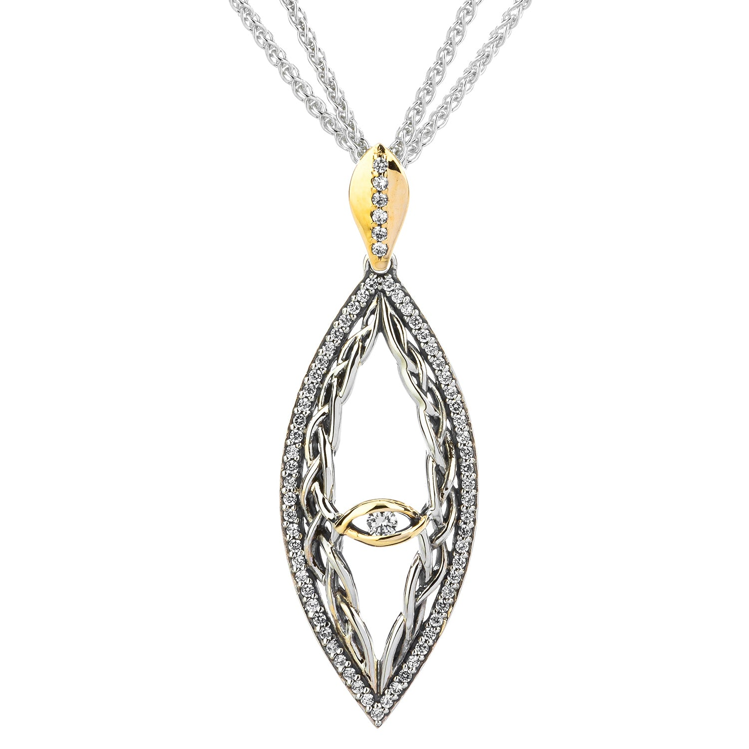Pendant 10k CZ Intertwining Gateway Pendant from welch and company jewelers near syracuse ny