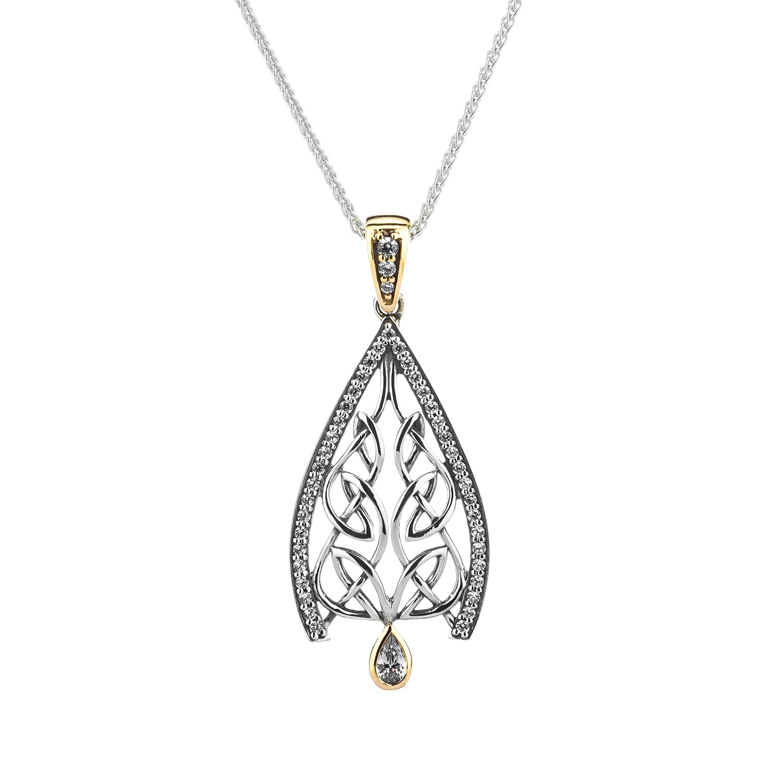 Pendant 10k CZ Dew Drop Gateway Small Pendant from welch and company jewelers near syracuse ny