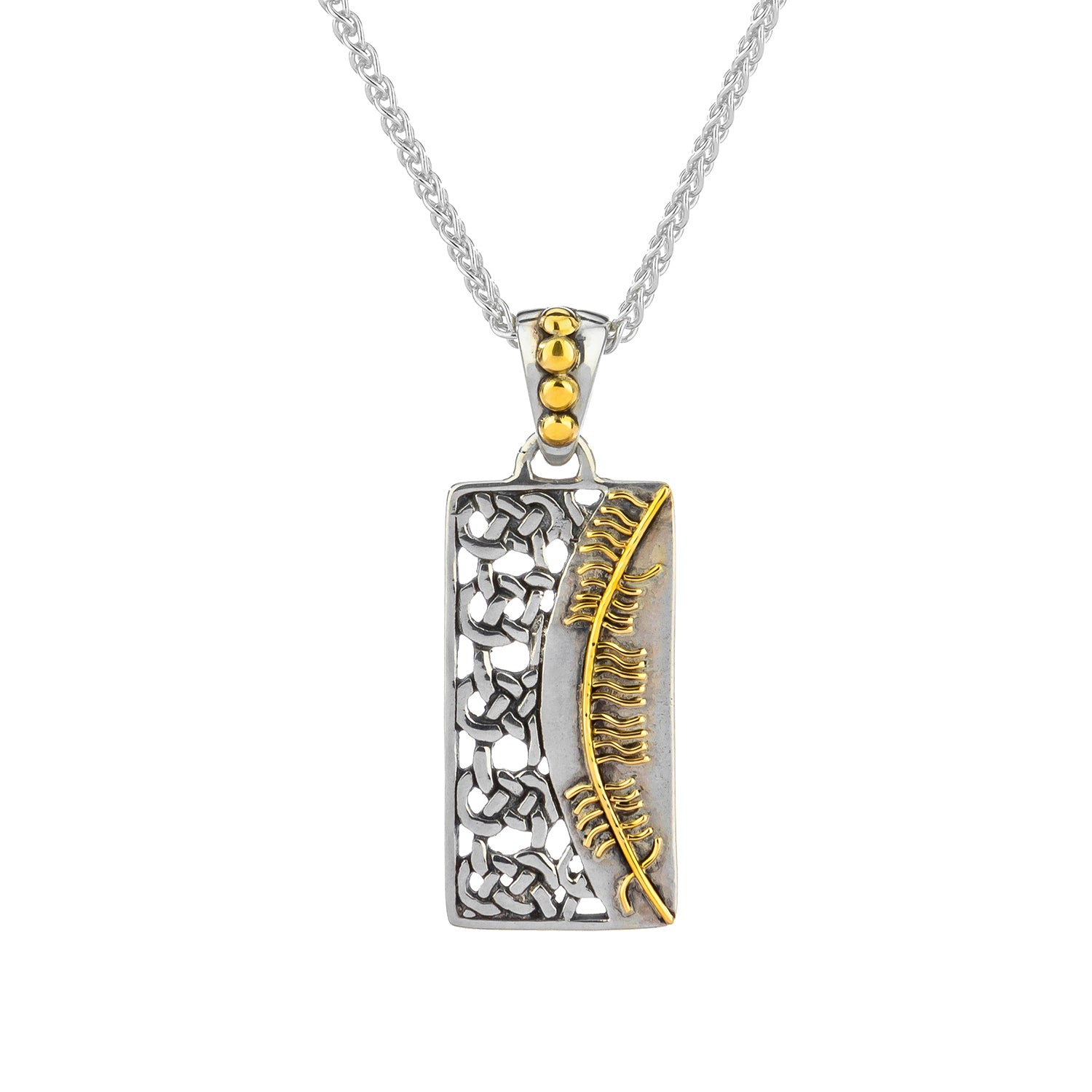 Pendant 18k Ogham Pendant Misneach = Courage from welch and company jewelers near syracuse ny