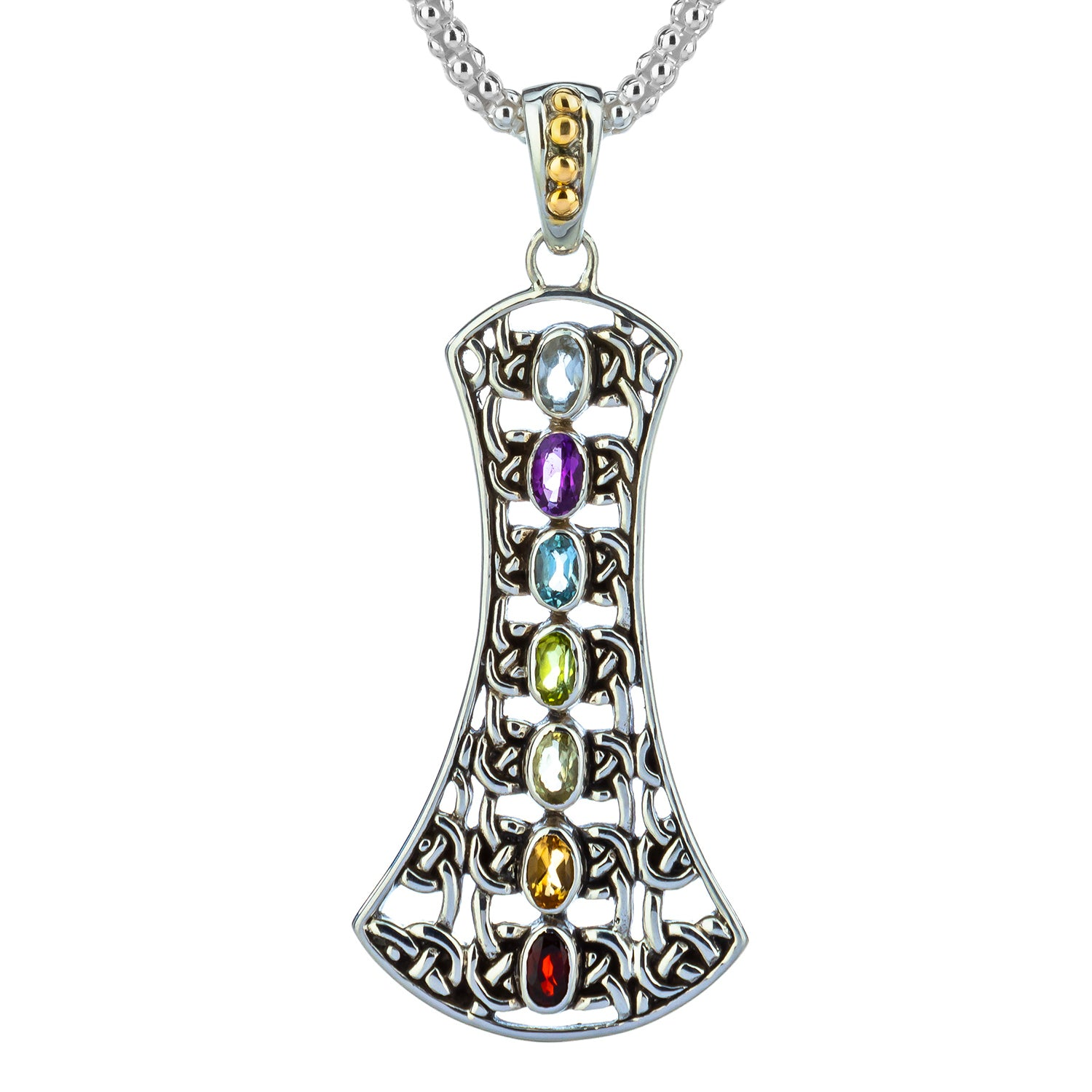 Pendant 18k Chakra Pendant with Semiprecious Stones from welch and company jewelers near syracuse ny