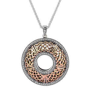 Pendant 10k Rose CZ Brave Heart Round Large Pendant from welch and company jewelers near syracuse ny