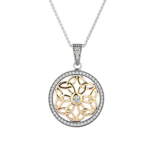 Pendant 10k CZ Trinity Round Pendant from welch and company jewelers near syracuse ny
