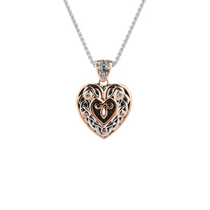 Pendant Oxidized 10k Rose CZ Celtic Heart Small Pendant from welch and company jewelers near syracuse ny