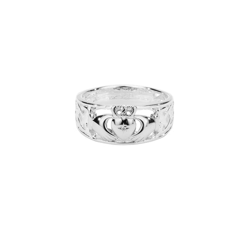 "Ring Bands ""Claddagh Diamond"" (Tapered) from welch and company jewelers near syracuse ny"
