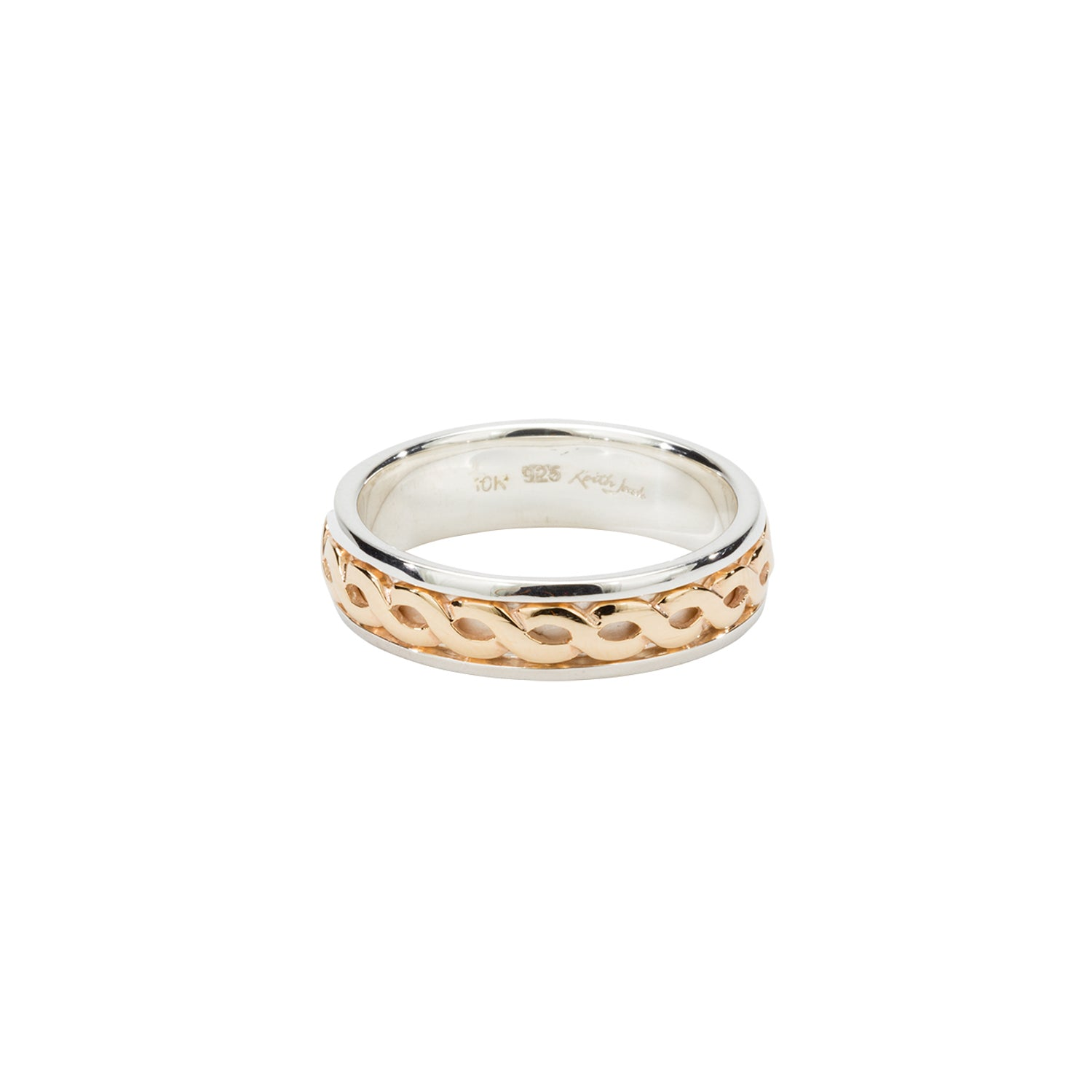 "Ring Bands 10k Celtic Weave Knot ""Harrow"" Ring from welch and company jewelers near syracuse ny"
