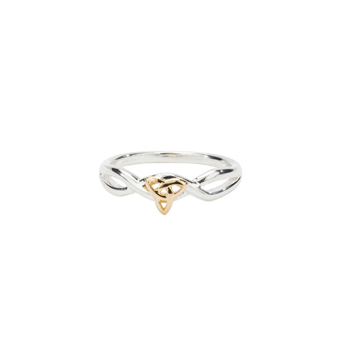 Ring Bands 10k Infinity Trinity Knot Ring from welch and company jewelers near syracuse ny