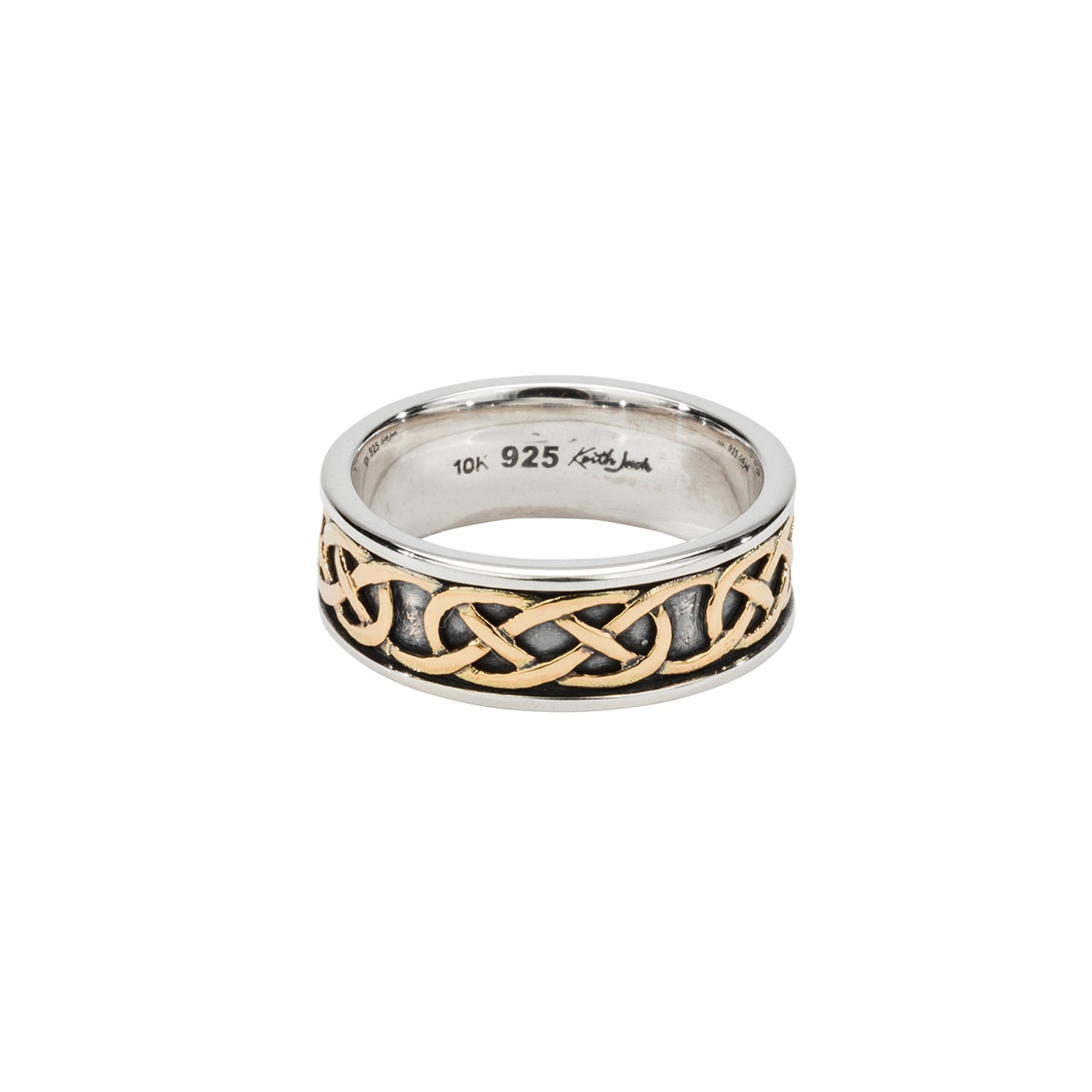 "Ring Bands Oxidization 10k Love Knot ""Belston"" Ring from welch and company jewelers near syracuse ny"