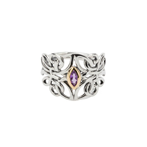 Ring Bands 10k Amethyst Guardian Angel Ring from welch and company jewelers near syracuse ny
