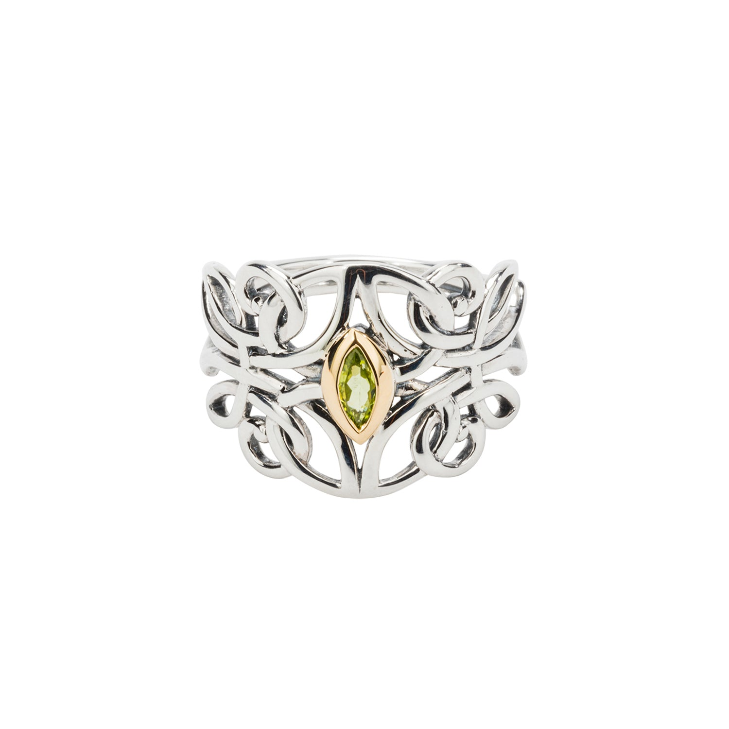 Ring Bands 10k Peridot Guardian Angel Ring from welch and company jewelers near syracuse ny