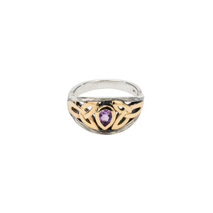 Ring Bands Oxidized 10k Amethyst Archangel Ring (Tapered) from welch and company jewelers near syracuse ny
