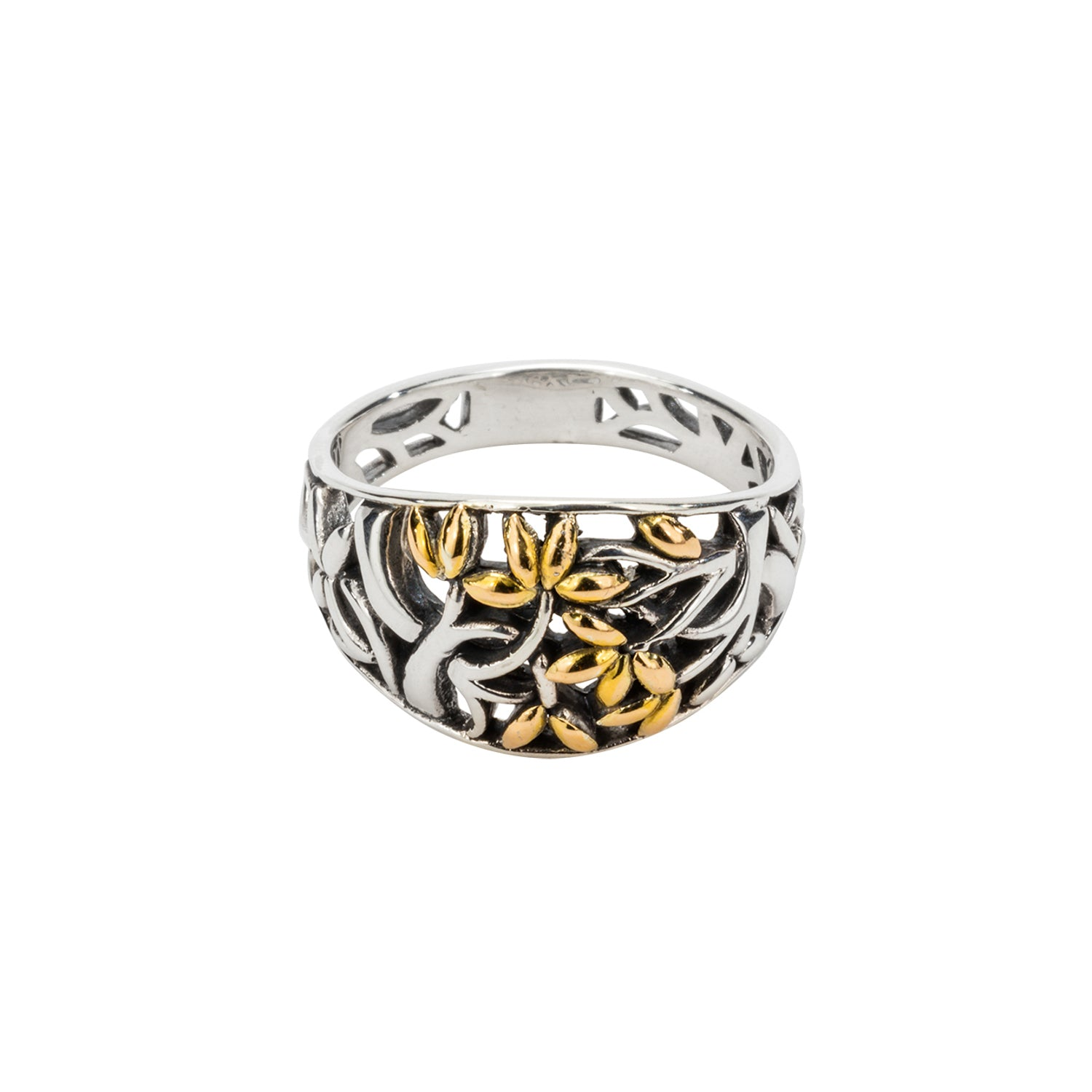 Ring Bands 18k Tree of Life Ring (Tapered) from welch and company jewelers near syracuse ny