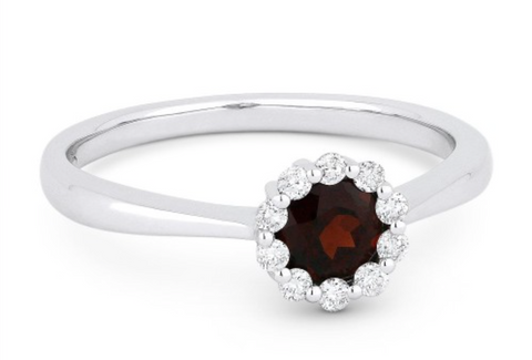 Garnet and Diamond Fashion Ring