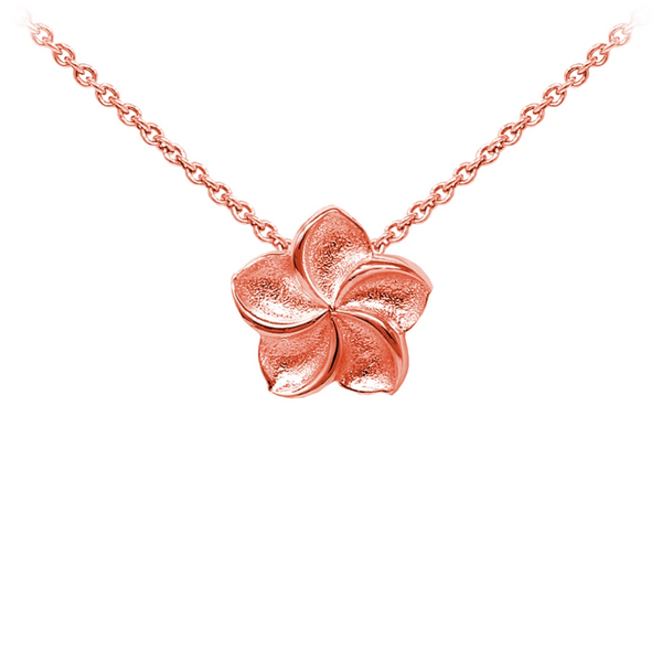 Plumeria Sterling Silver Dainty Necklace