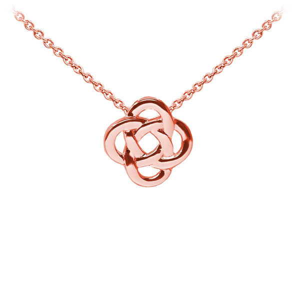 Celtic Knot Sterling Silver Dainty Necklace