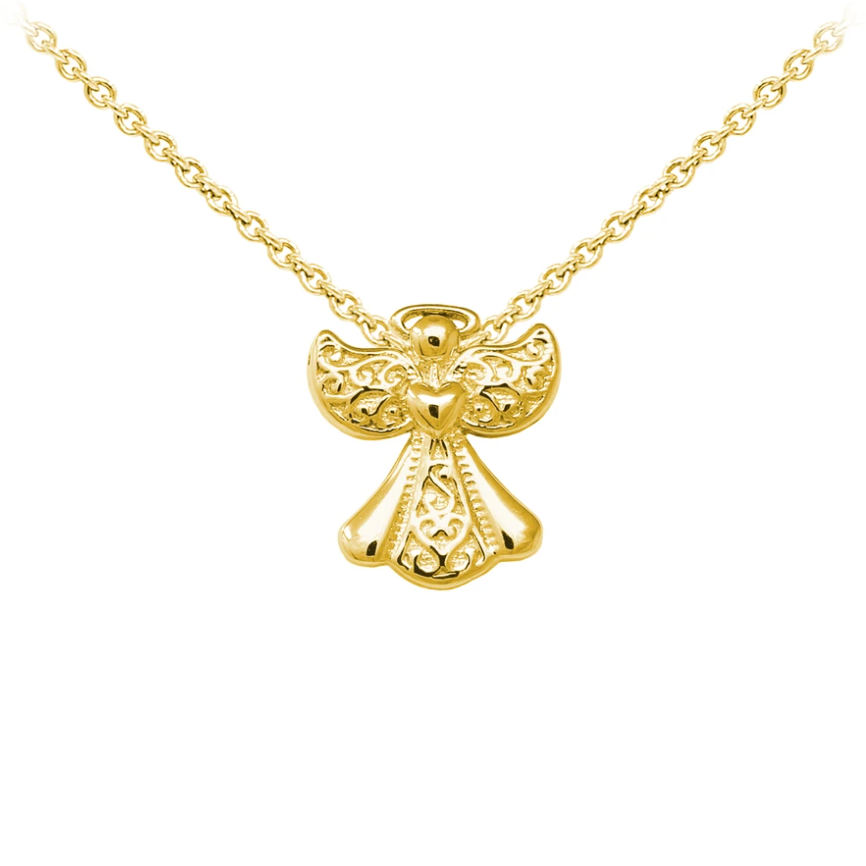 Filigree Angel Sterling Silver Dainty Necklace