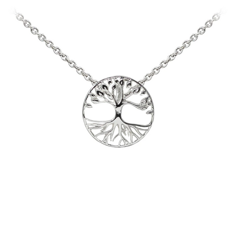 Tree of Life Sterling Silver Dainty Necklace