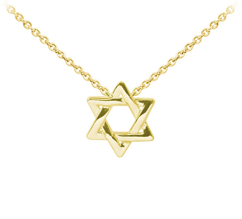 Star of David Sterling Silver Dainty Necklace