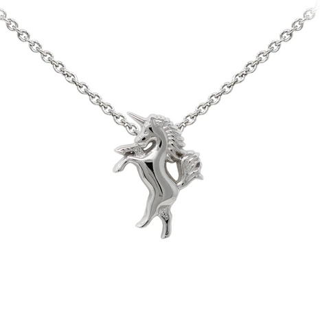Unicorn Sterling Silver Dainty Necklace