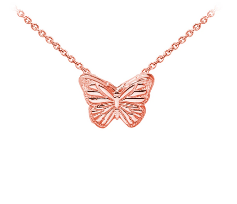 Butterfly Sterling Silver Dainty Necklace