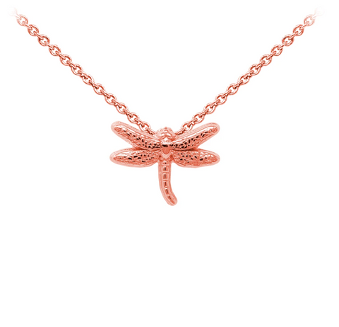 Dragonfly Sterling Silver Dainty Necklace