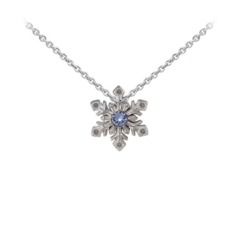 Wind & Fire Snowflake w/Crystal Sterling Silver Dainty Necklace Welch Jewelers Inspection and Cleaning Syracuse NY