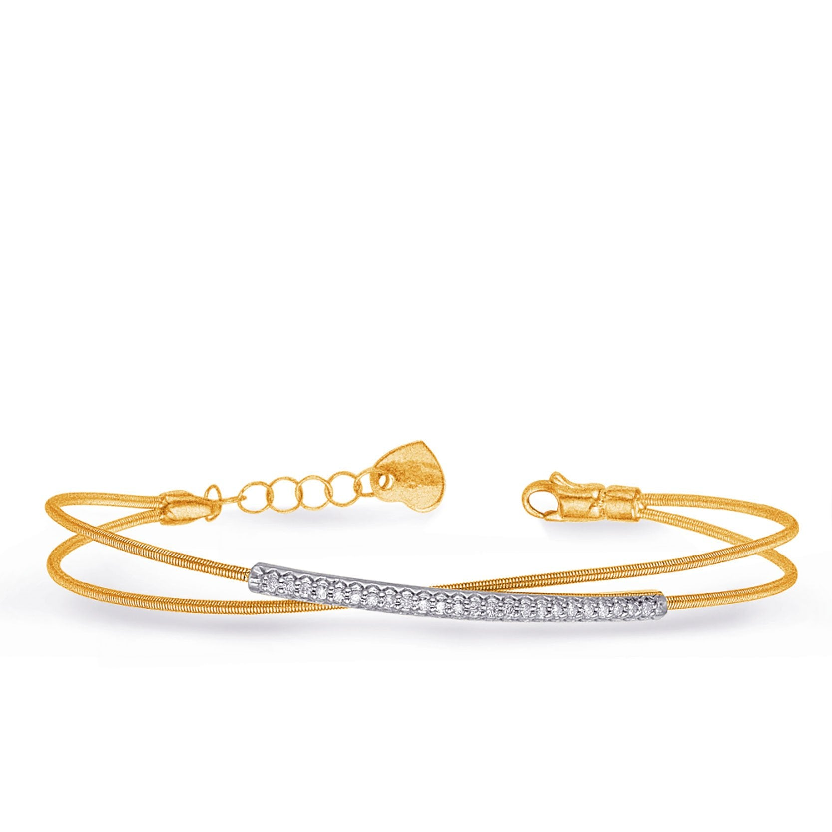 bracelet White & Yellow Gold Bangle Italian - DEMO from welch and company jewelers near syracuse ny
