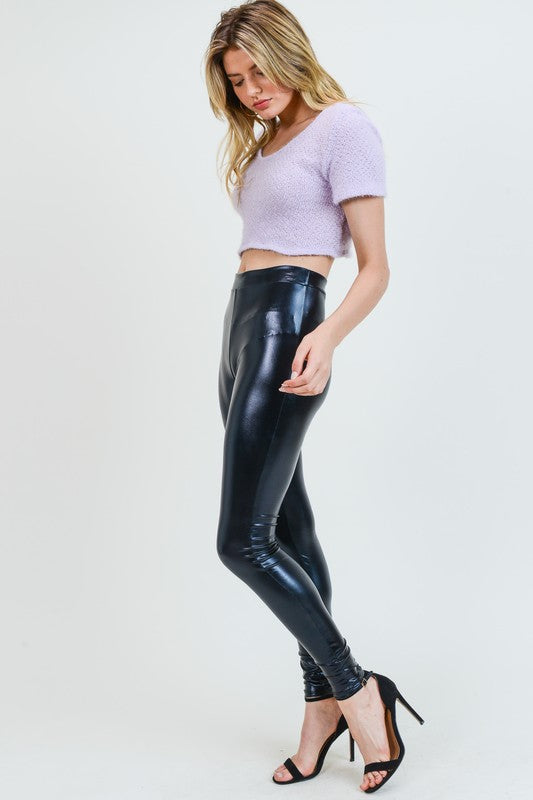 Black Vinyl Look Legging