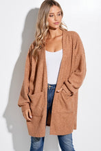 Load image into Gallery viewer, Fluffy Cozy Cardigan Camel with Pockets