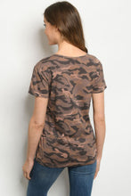 Load image into Gallery viewer, Rust Camo Short Sleeve Shirt