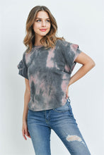 Load image into Gallery viewer, Mauve Charcoal Tie Dye Top