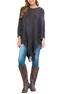 Soft Charcoal Poncho