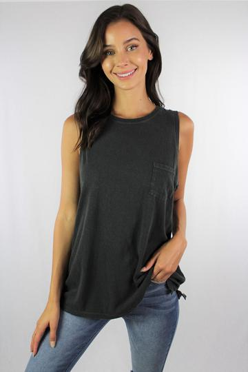 Tank with Front Pocket (available in 4 colors)