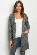 Load image into Gallery viewer, One Size Grey Open Cardigan
