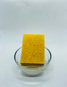 Our Turmeric Milk Body Bar has anti-inflammatory, antibacterial and healing benefits due to its high concentrations of fatty acids and vitamins. Turmeric can work wonders on the skin including redness and blemish reduction and calming rosacea and eczema skin conditions. Turmeric is great for acne due to its natural antiseptic properties that help keep bacteria from spreading.