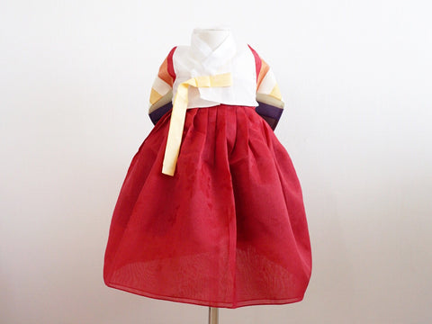 Classic Girl's Hanbok (Red)