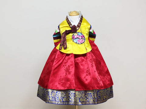 TRADITIONAL GIRL'S HANBOK Yellow/Red