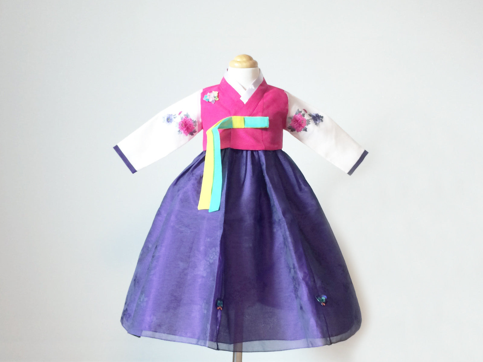 Flower Girl's Hanbok (Pink/Purple)