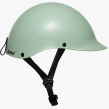 "Load image into Gallery viewer, ""Dashel helmet, light, elegant, recyclable, colour sage green, small, medium, large size available, Barnes Bikes"""
