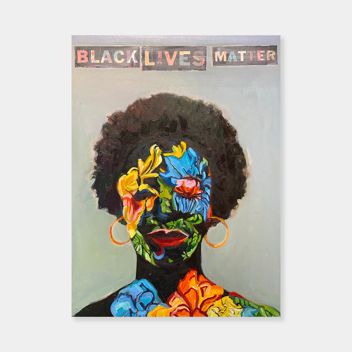 Artsuite - Beverly McIver - Black Lives Matter - Original Painting. McIver's autobiographical paintings are richly colorful and chronicle her life struggle with her African-American identity. Her voice in these works is brave and bold and the different interpretations by white and black viewers highlights the collision of the worlds that she straddles daily.